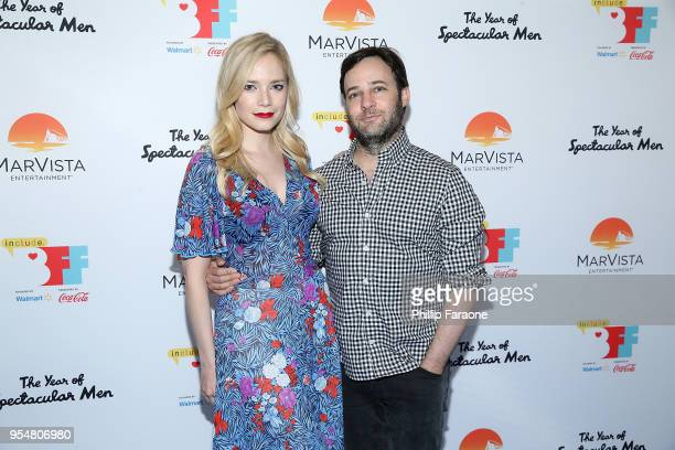 Caitlin Mehner and Danny Strong attend The Year of Spectacular Men premiere at the 4th Annual Bentonville Film Festival Day 4 on May 4 2018 in...