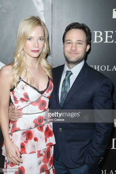 Caitlin Mehner and Danny Strong attends 'Rebel in the Rye' screening and after party hosted by Jean Shafiroff and IFC Films at Metrograph on...