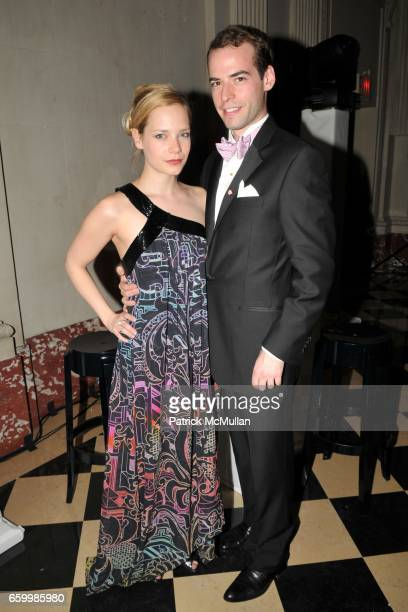 Caitlin Mehner and Eric de Cholnoky attend APRIVATECLUBCOM Spring Soiree at National Academy Museum on May 14 2009 in New York City