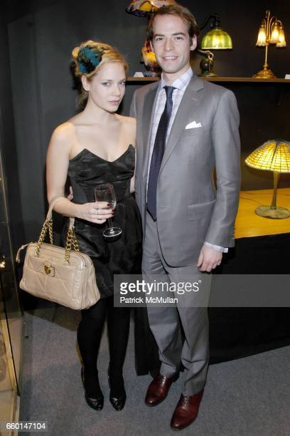 Caitlin Mehner and Eric De Cholnoky attend WINTER ANTIQUES SHOW Young Collectors' Night Sponsored by ELIE TAHARI at The Park Avenue Armory on January...