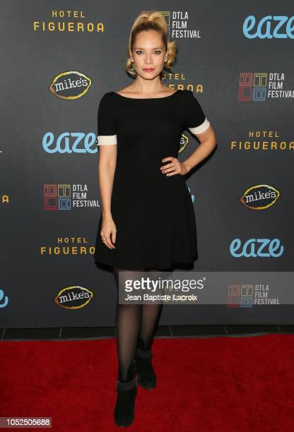Caitlin Mehner attends the 2018 Downtown Los Angeles Film Festival - 'All Creatures Here Below' 'Original Sin' And Perception' Press line held at...