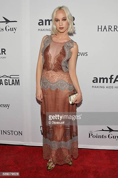 Caitlin Moe attends the 7th Annual amfAR Inspiration Gala at Skylight at Moynihan Station on June 9 2016 in New York City