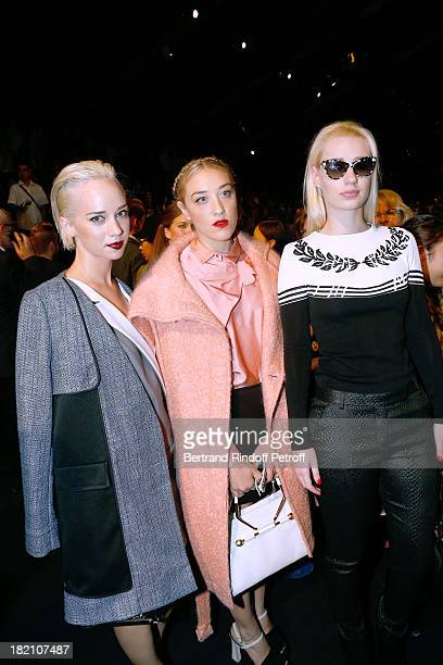 Caitlin Moe DJ Mia Morretti and Rap singer Iggy Azalea attend the Viktor Rolf show as part of the Paris Fashion Week Womenswear Spring/Summer 2014...