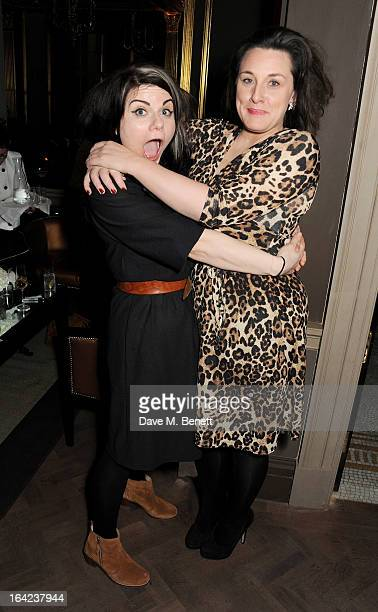 Caitlin Moran and Grace Dent attend the launch of Baileys new sleek bottle design at the Cafe Royal hotel on March 21 2013 in London England