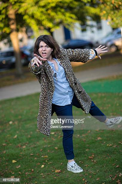 Caitlin Moran journalist and author at the Cheltenham Literature Festival on October 2 2015 in Cheltenham England
