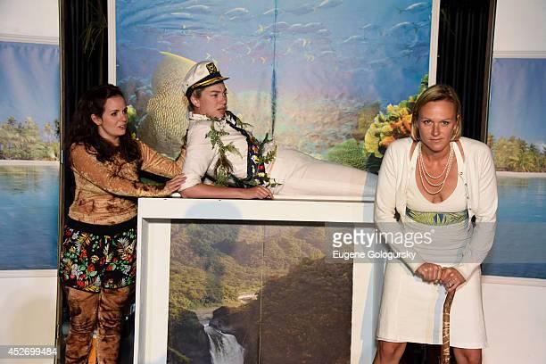 Caitlin Morris Madeline Wise and Chloe Dirksen at World Premiere Of Kurt Vonnegut's Galapagos At Parrish Art Museum's Lichtenstein Theater at Parrish...