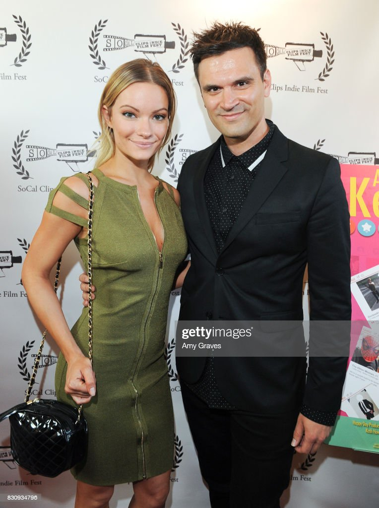 Caitlin O'Connor and Kash Hovey attend the Premiere Of 'As In Kevin' At Socal Clips Indie Film Fest on August 12, 2017 in Los Angeles, California.