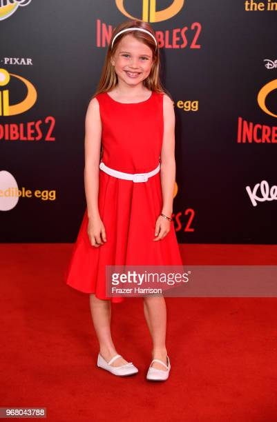 Caitlin Reagan attends the premiere of Disney and Pixar's Incredibles 2 at the El Capitan Theatre on June 5 2018 in Los Angeles California