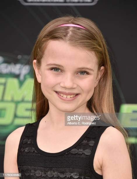 Caitlin Reagan attends the premiere of Disney Channel's Kim Possible at The Television Academy on February 12 2019 in Los Angeles California