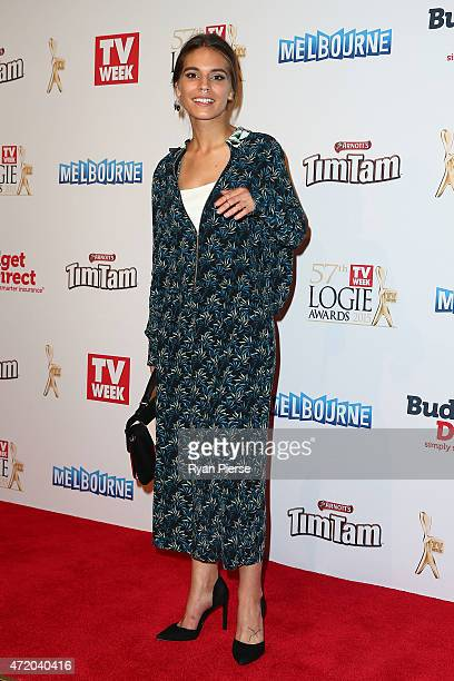 Caitlin Stasey arrives at the 57th Annual Logie Awards at Crown Palladium on May 3 2015 in Melbourne Australia