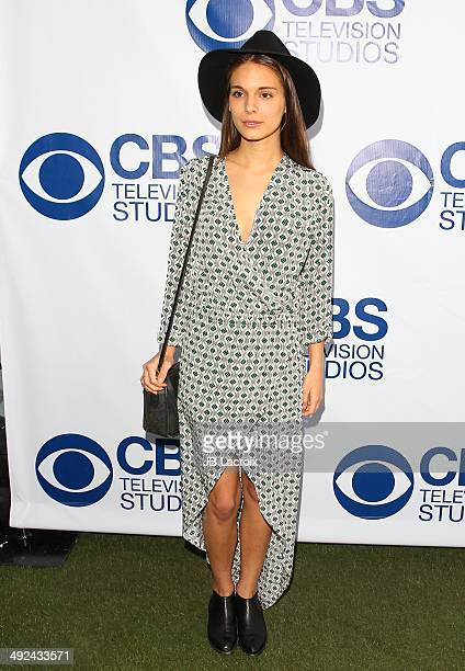Caitlin Stasey arrives at the CBS Summer Soiree at The London West Hollywood on May 19 2014 in West Hollywood California