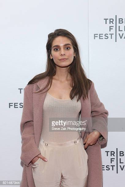 Caitlin Stasey attends 'Fear Inc' premiere during 2016 Tribeca Film Festival at Regal Battery Park 11 on April 15 2016 in New York City