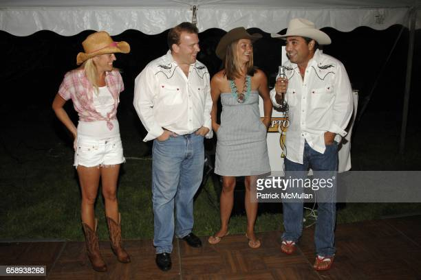 Caitlin Tashjian, Michael Dorrian, Vaughn Dorrian and John Tashjian attend HAMPTONS HOEDOWN Hosted by The DORRIAN and TASHJIAN Families at Private...