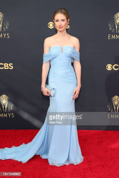 Caitlin Thompson attends the 73rd Primetime Emmy Awards at L.A. LIVE on September 19, 2021 in Los Angeles, California.