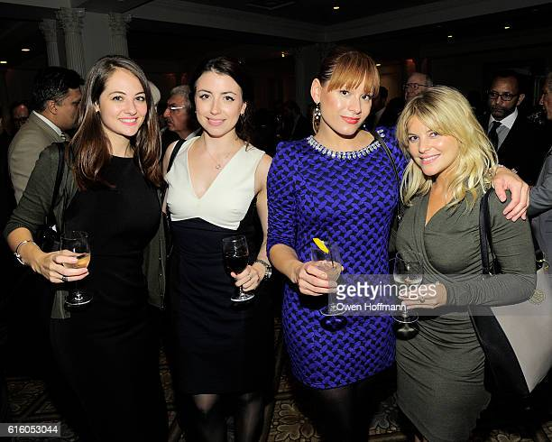 Caitlin Wewer Georgia Andre Christina Marie and Stephanie Roy attend An Evening Honoring Joe Namath at The Plaza Hotel on October 20 2016 in New York...
