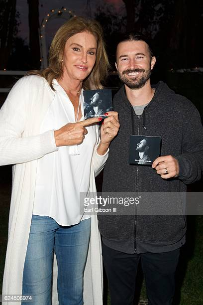 Caitlyn Jenner and Brandon Jenner pose for a photo at the Brandon Jenner Record Release Party For Burning Ground on November 19 2016 in Malibu...