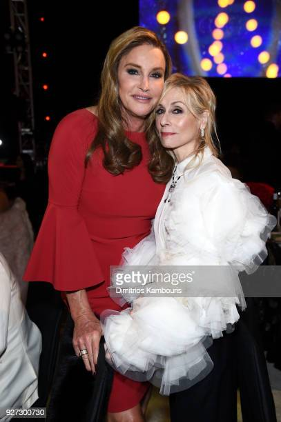 Caitlyn Jenner and Judith Light attends the 26th annual Elton John AIDS Foundation Academy Awards Viewing Party sponsored by Bulgari celebrating EJAF...