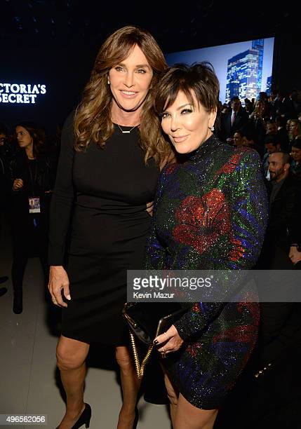 Caitlyn Jenner and Kris Jenner attend the 2015 Victoria's Secret Fashion Show at Lexington Armory on November 10 2015 in New York City