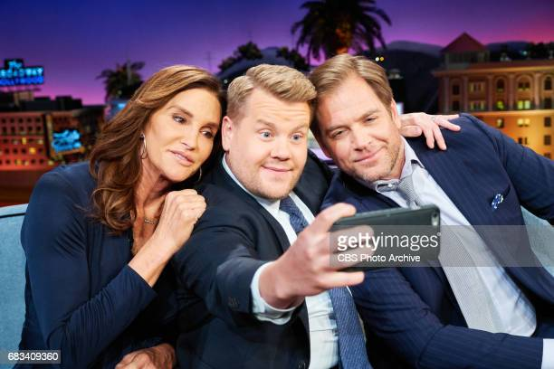 Caitlyn Jenner and Michael Weatherly chat with James Corden during The Late Late Show with James Corden Monday May 8 2017 On The CBS Television...