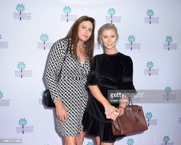 Caitlyn Jenner and Sophia Hutchins attend the 30th Annual Palm Springs International Film Festival on January 11 2019 in Palm Springs California