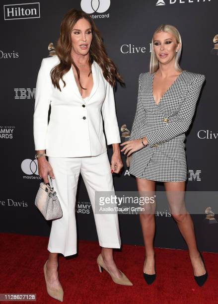 Caitlyn Jenner and Sophia Hutchins attend The Recording Academy and Clive Davis' 2019 PreGRAMMY Gala at The Beverly Hilton Hotel on February 09 2019...