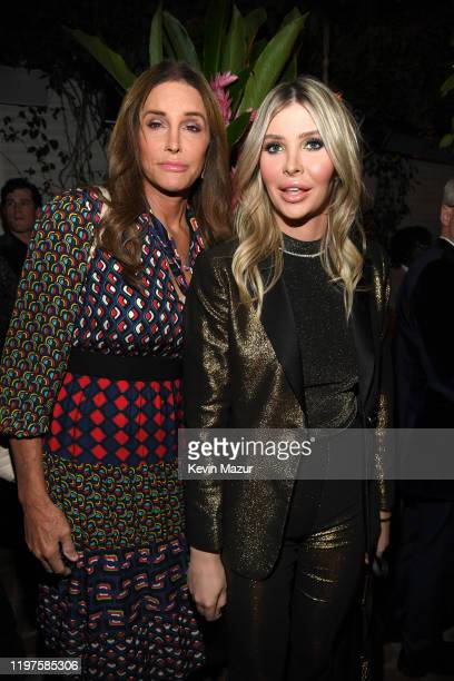 Caitlyn Jenner and Sophia Hutchins attend Vanity Fair Amazon Studios and Audi Celebrate The 2020 Awards Season at San Vicente Bungalows on January 04...
