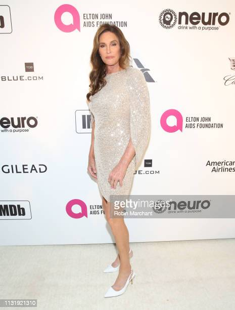 Caitlyn Jenner attends 27th Annual Elton John AIDS Foundation Academy Awards Viewing Party Celebrating EJAF And The 91st Academy Awards on February...