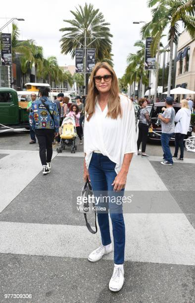Caitlyn Jenner attends Rodeo Drive Concours d'Elegance Father's Day Car Show on June 17 2018 in Beverly Hills California
