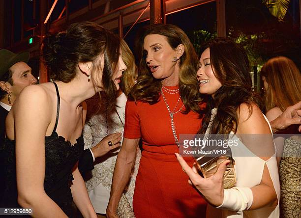 Caitlyn Jenner attends the 2016 Vanity Fair Oscar Party Hosted By Graydon Carter at the Wallis Annenberg Center for the Performing Arts on February...