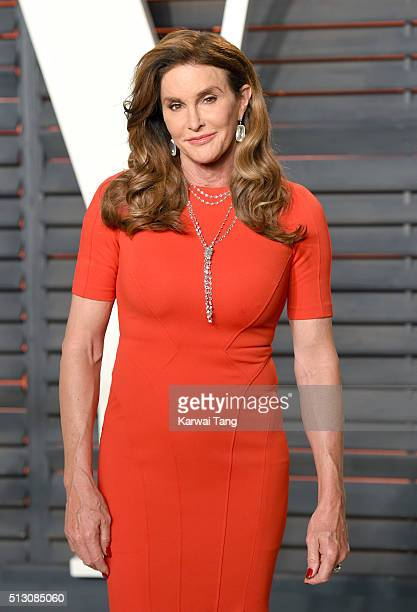 Caitlyn Jenner attends the 2016 Vanity Fair Oscar Party Hosted By Graydon Carter at Wallis Annenberg Center for the Performing Arts on February 28...