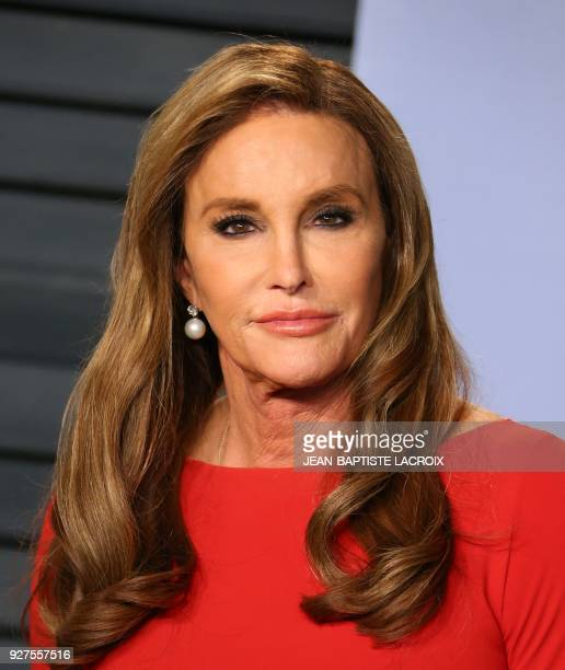 Caitlyn Jenner attends the 2018 Vanity Fair Oscar Party following the 90th Academy Awards at The Wallis Annenberg Center for the Performing Arts in...