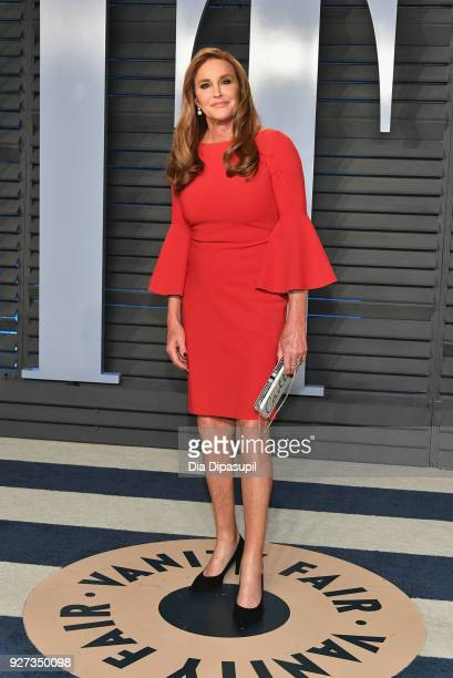 Caitlyn Jenner attends the 2018 Vanity Fair Oscar Party hosted by Radhika Jones at Wallis Annenberg Center for the Performing Arts on March 4, 2018...