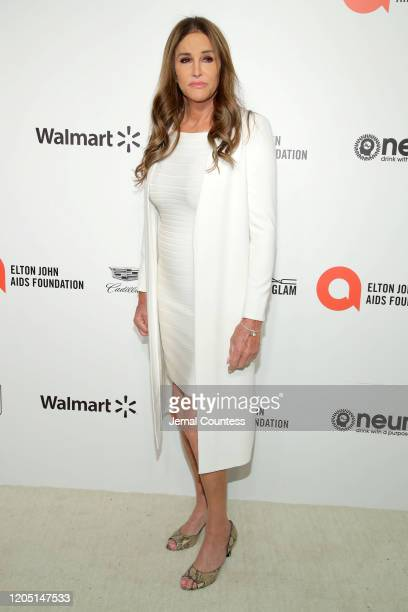 Caitlyn Jenner attends the 28th Annual Elton John AIDS Foundation Academy Awards Viewing Party sponsored by IMDb, Neuro Drinks and Walmart on...