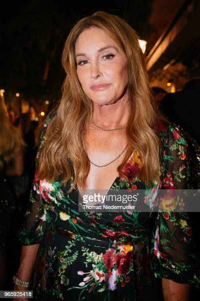 Caitlyn Jenner attends the Life Ball 2018 welcome cocktail at Le Meridien Hotel on June 1 2018 in Vienna Austria The Life Ball an annual charity...