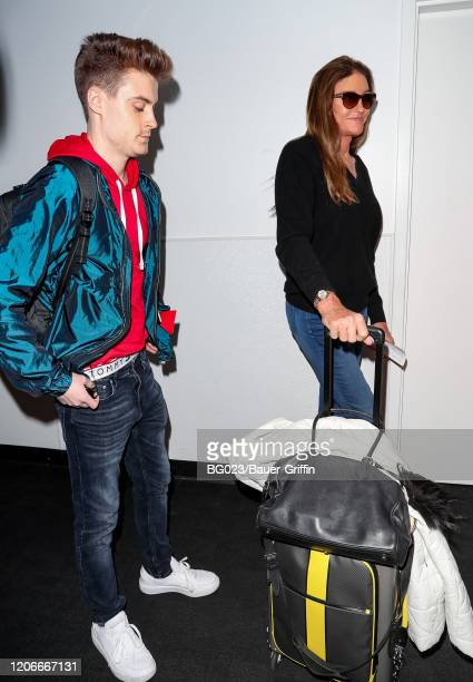 Caitlyn Jenner is seen at LAX on March 11, 2020 in Los Angeles, California.
