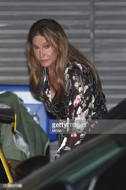 Caitlyn Jenner is seen leaving Nobu on October 12, 2020 in Malibu, California. (Photo by Photog Group/Rachpoot// MEGA/GC Images