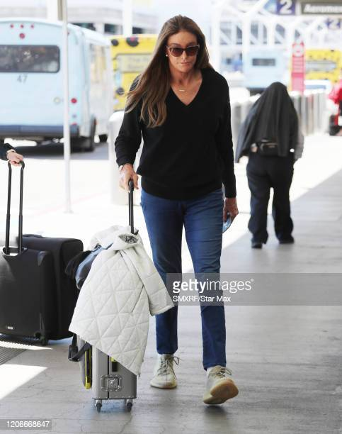 Caitlyn Jenner is seen on March 11, 2020 in Los Angeles, California.