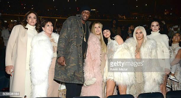 Caitlyn Jenner Kris Jenner Lamar Odom Khloe Jenner Kylie Jenner Kim Kardashian West Kendall Jenner North West and Kourtney Kardashian attend Kanye...