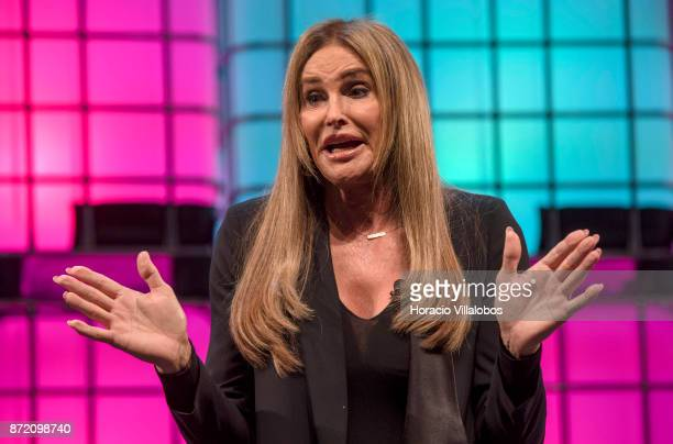 Caitlyn Jenner Olympian and Advocate of Transgender Rights speaks on 'Who defines gender' during the final day of Web Summit in Altice Arena on...