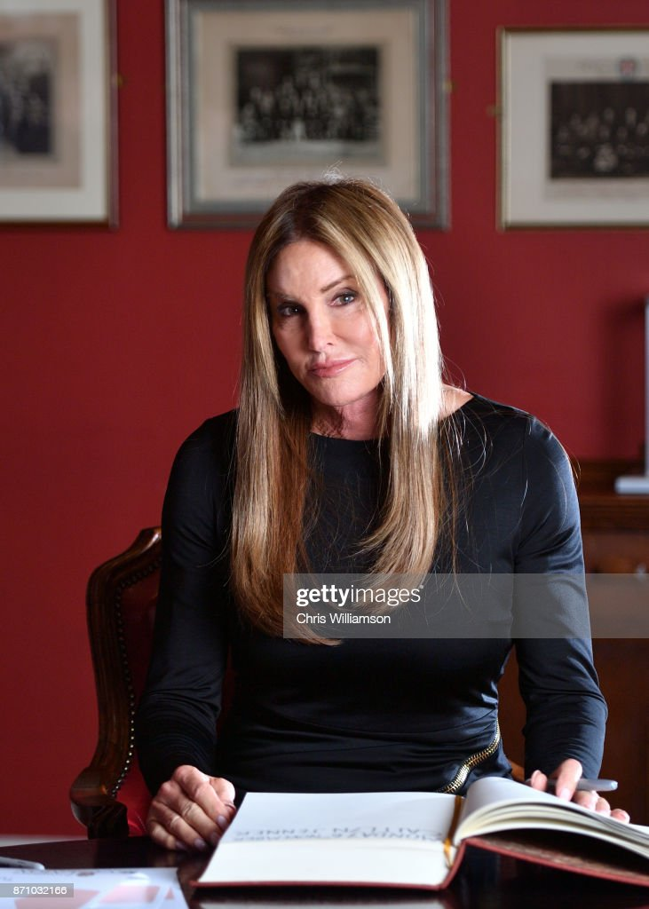Caitlyn Jenner poses at The Cambridge Union on November 6, 2017 in Cambridge, Cambridgeshire.