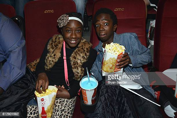 Caitlyn McLaughlin and actor Caleb McLaughlin attend the 'Shin Godzilla' premiere presented by Funimation Films at AMC Empire 25n2016 New York Comic...