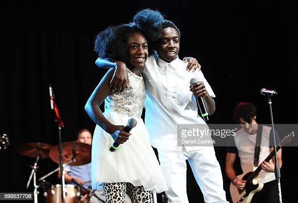 Caitlyn McLaughlin and Caleb McLaughlin perform during the 2nd Annual Elsie Fest at Ford Amphitheater at Coney Island Boardwalk on September 5, 2016...