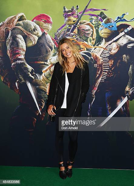 Caitlyn Paterson arrives at the Sydney Premiere of Teenage Mutant Ninja Turtles at The Entertainment Quarter on September 7 2014 in Sydney Australia