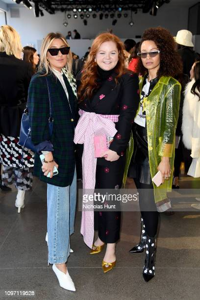 Caitlyn Warakomski Allie Provost and Sai De Silva attend the Claudia Li front row during New York Fashion Week The Shows at Gallery II at Spring...