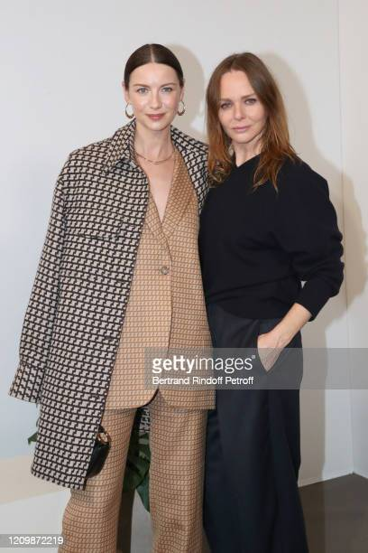 Caitriona Balfe and Designer Stella McCartney pose after the Stella McCartney show as part of the Paris Fashion Week Womenswear Fall/Winter 2020/2021...