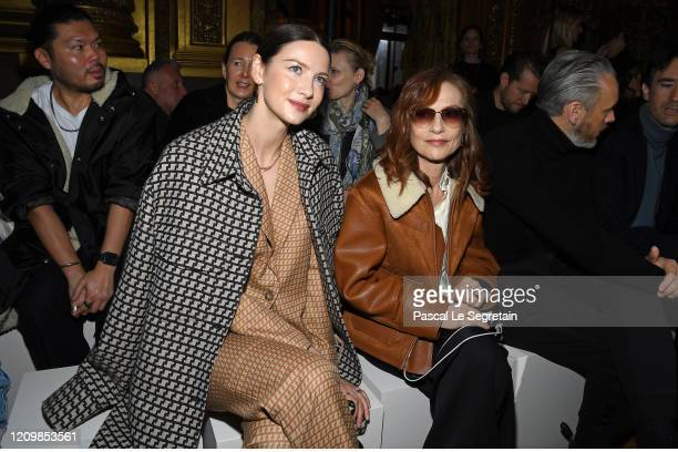 Caitriona Balfe and Issabelle Huppert attends the Stella McCartney show as part of the Paris Fashion Week Womenswear Fall/Winter 2020/2021 on March...