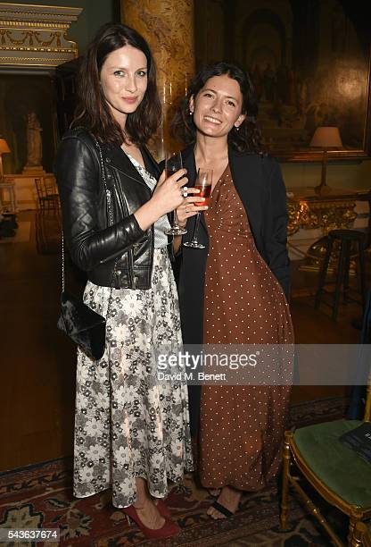 Caitriona Balfe and Karina Deyko attend the Creatures of the Wind Resort 2017 collection and runway show presented by Farfetch at Spencer House on...