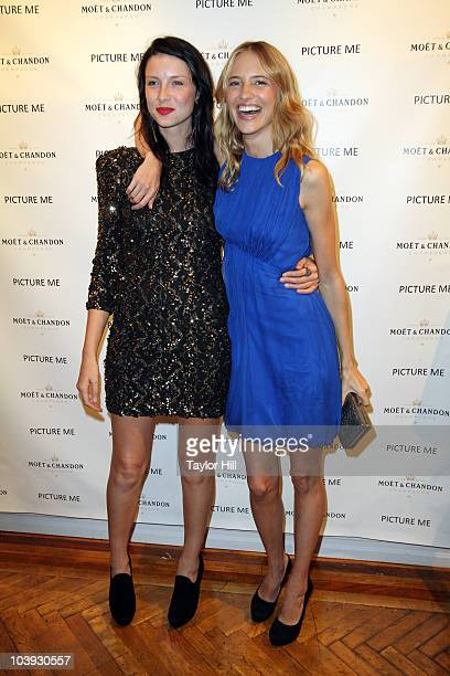 """Caitriona Balfe and Sara Ziff attend the """"Picture Me: A Model's Diary"""" reception at The National Arts Club on September 8, 2010 in New York City."""