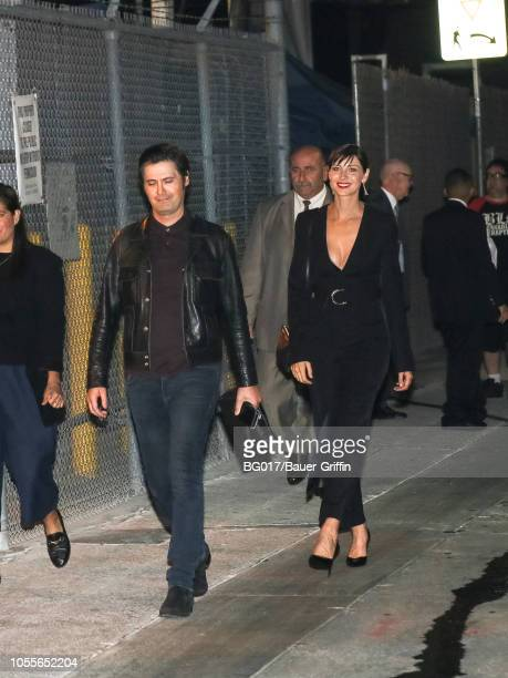 Caitriona Balfe and Tony McGill are seen arriving at the 'Jimmy Kimmel Live' on October 30 2018 in Los Angeles California