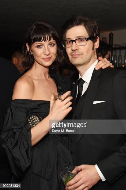 Caitriona Balfe and Tony McGill attend the Grey Goose 2018 BAFTA Awards after party on February 18 2018 in London England